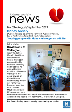 KIDNEY SOCIETY News August September 2019