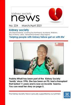 KIDNEY SOCIETY News March/April 2021